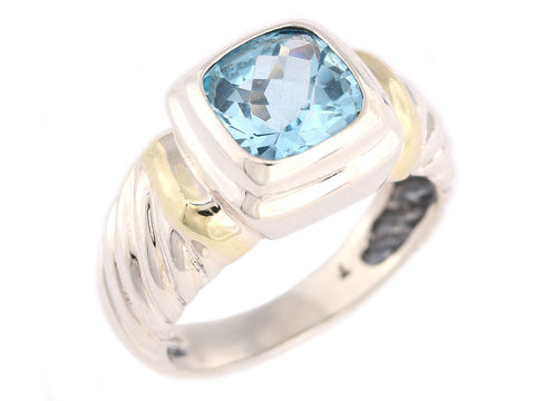 David Yurman Blue Topaz Noblesse Ring