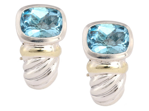 David Yurman Blue Topaz Shrimp Earrings