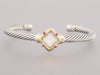 David Yurman Mother of Pearl Ruby Quatrefoil Bracelet