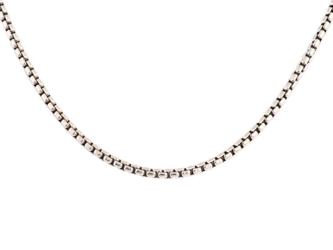 David Yurman Medium Sterling Silver 22-Inch Box Chain Necklace