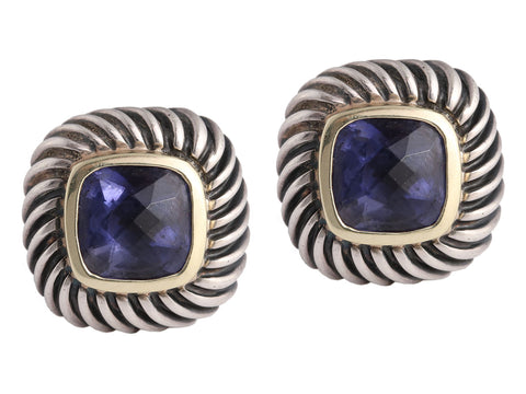 David Yurman Petite Iolite Albion Earrings