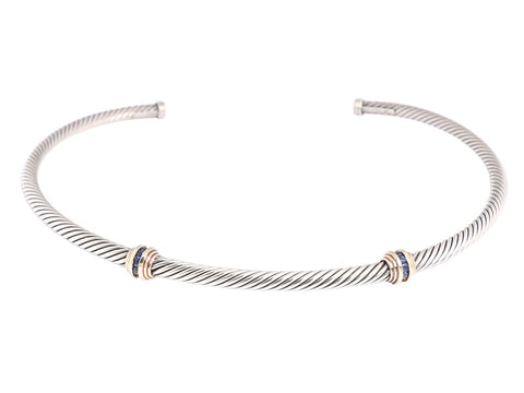 David Yurman Sapphire Cable Necklace