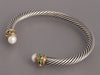 David Yurman Emerald and Pearl Renaissance Bracelet