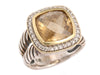 David Yurman Citrine and Diamond Albion Ring