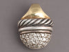 David Yurman Sterling Silver and 18K Gold Diamond Mini Capri Acorn Pendant