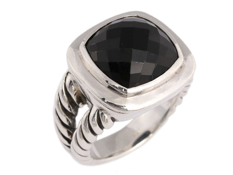 David Yurman Sterling Silver Black Onyx Albion Ring