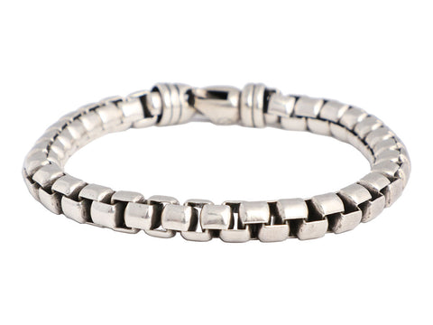 David Yurman Extra Large Sterling Silver Box Chain Bracelet
