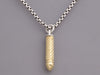 David Yurman Sterling Silver and 18K Yellow Gold Bullet Pendant Necklace