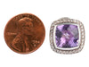 David Yurman Sterling Silver, Amethyst, and Diamond Albion Pierced Earrings