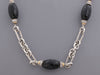 David Yurman Sterling Silver, 14K Yellow Gold, Diamond, and Onyx Bijoux Figaro Chain Necklace