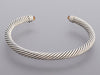 David Yurman Sterling Silver Citrine and Diamond Cable Classics Bracelet 5mm