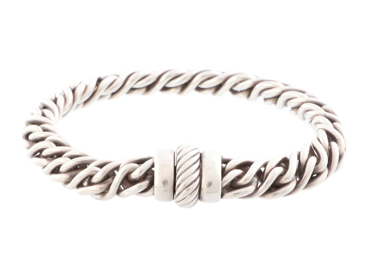 David Yurman Woven Sterling Silver Bracelet