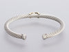 David Yurman Sterling Silver and 14K Yellow Gold Cable X Bracelet