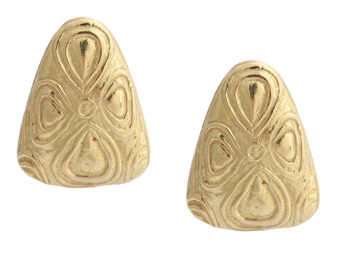 Elizabeth Gage Large 18K Yellow Gold Clip Earrings