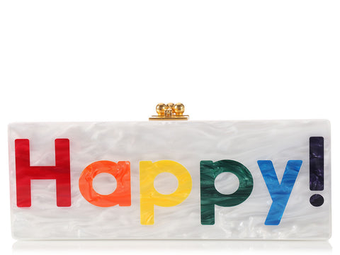 Edie Parker Flavia Happy Box Clutch