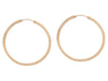 Yellow Gold Hammered Flat Hoop Earrings
