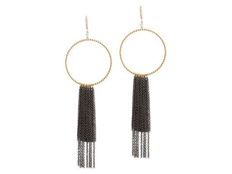 Fern Freeman Gold Fringe Earrings