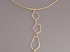 Fern Freeman Diamond and Gold Geometric Links on Choker