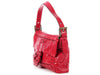 Fendi Red Whip-Stitched Baguette
