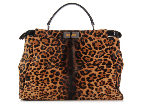 Fendi Leopard Pony Hair Peekaboo
