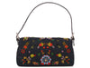Fendi Denim Floral Beaded Baguette