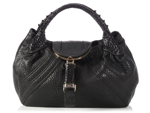 Fendi Black Nappa Spy Bag