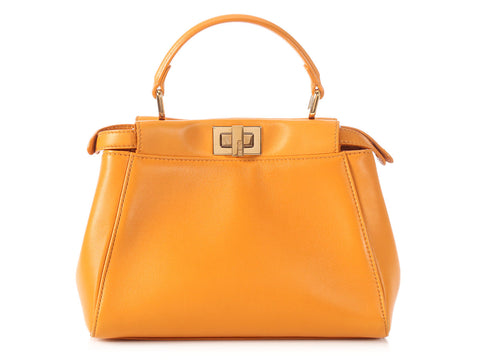 Fendi Orange Peekaboo Mini