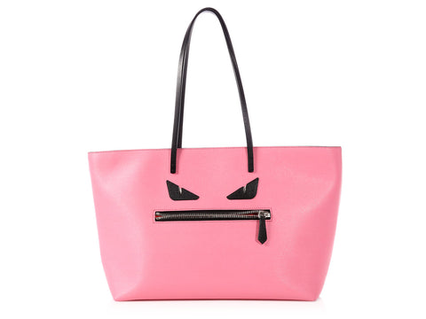Fendi Medium Pink Monster Roll Tote