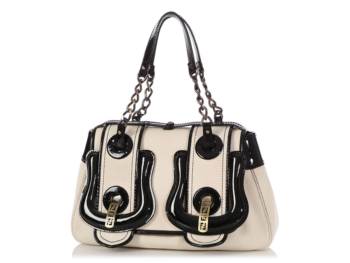 bc355c3542 Fendi Canvas and Patent B Bag