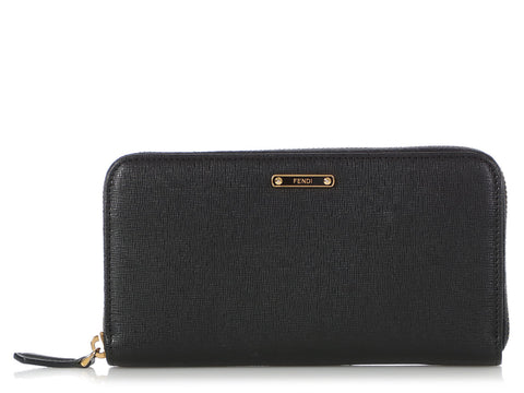 Fendi Black Continental Wallet