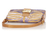 Fendi Purple and Gold Velvet Zebra Baguette