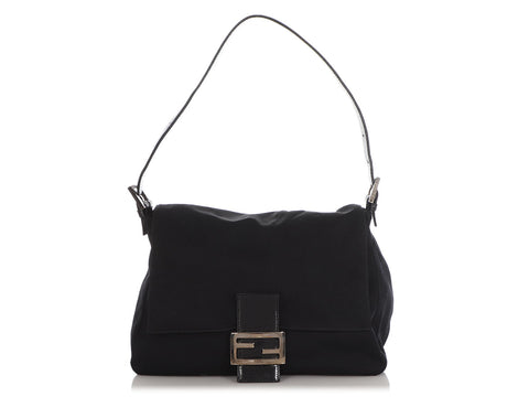 Fendi Black Fabric Mama Bag