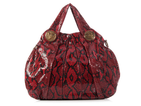 Gucci Red Python Hysteria Bag