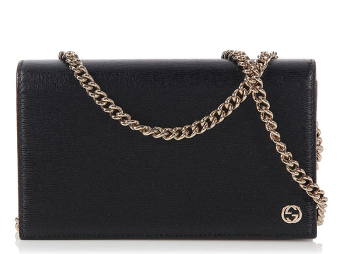 Gucci Black Betty Chain Wallet Bag