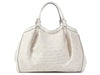 Gucci Large White Woven Raffia Diamante Sukey Bag