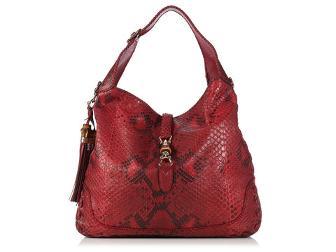 Gucci Extra Large Red Python Jackie O