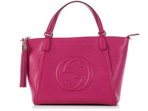 Gucci Bright Bouganville Soho Tote