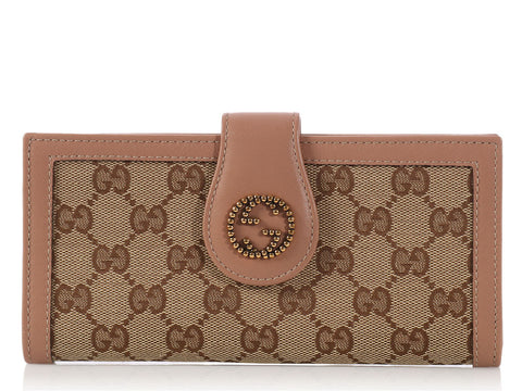 Gucci Monogram Lurex Continental Wallet