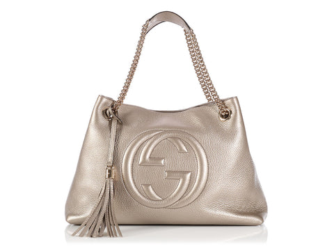 Gucci Large Gold Soho Tote