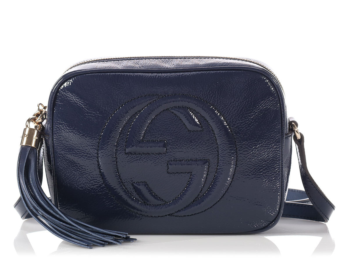 Gucci Navy Patent Leather Soho Disco