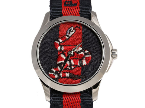 Gucci Embroidered Kingsnake Watch