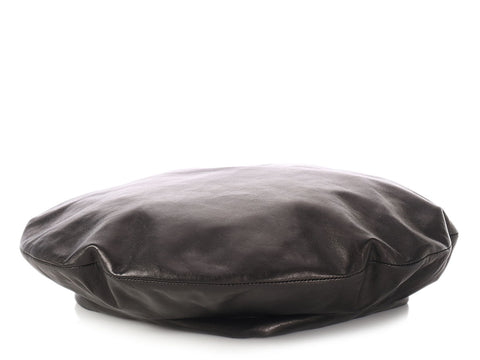 Gucci Black Leather Beret