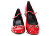 Gucci Hibiscus Red Mary Jane Regent Shoes