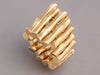 Gucci Wide 18K Gold Flexible Bamboo Ring