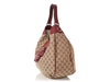 Gucci Monogram and Leather GG Hobo