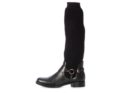 Gucci Black Knit Boots