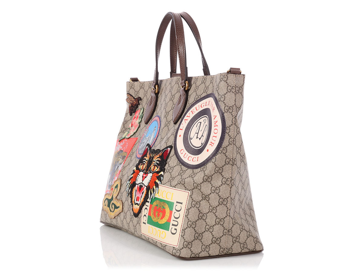 6cd5c2523a2d Gucci Courier GG Supreme Patch Tote