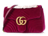 Gucci Medium Rubin Velvet GG Marmont Shoulder Bag