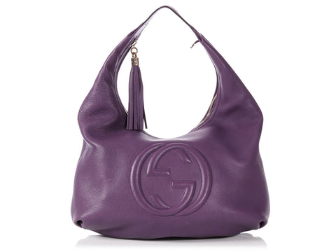 Gucci Medium Purple Soho Hobo