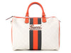 Gucci Medium White Web Stripe Joy Boston Bag